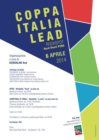 Coppa Italia Lead 2014 - Pero - Locandina