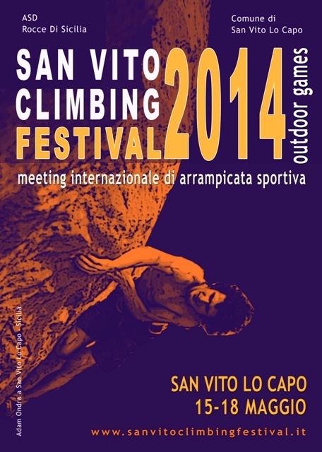 San Vito Climbing Festival 2014 - locandina