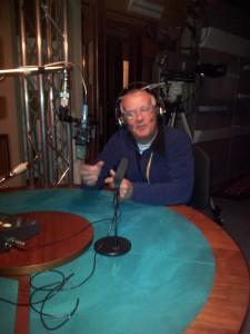 Giorgio Balducci nello studio RAI di Trento