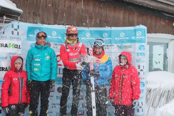 Coppa delle Dolomiti 2014. Ivo Zulian sul podio