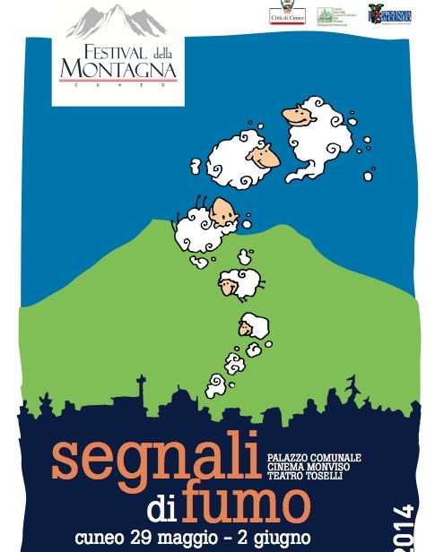Festival della Montagna Cuneo 2014 - Segnali di Fumo. Locandina