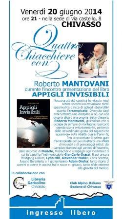 Quattro chiacchiere con ... serata con Roberto Mantovani - locandina 2014