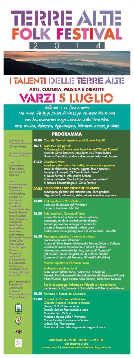 Terre Alte Folk Festival 2014 - locandina