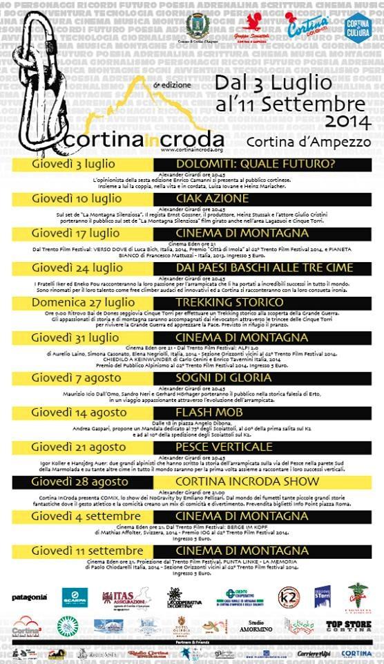 CortinainCroda 2014 - locandina programma