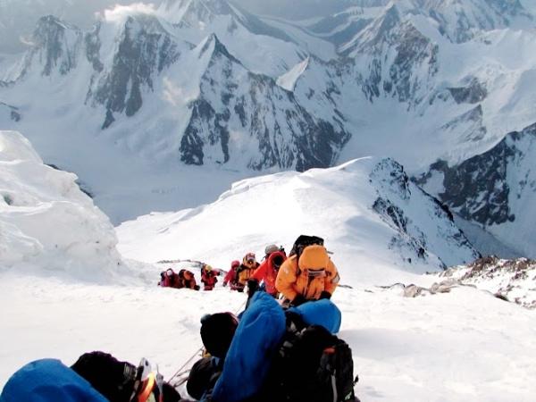 K2. Fuori dal traverso. Foto EVK2CNR