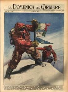La Domenica del Corriere: cover dedicata alla conquista del K2