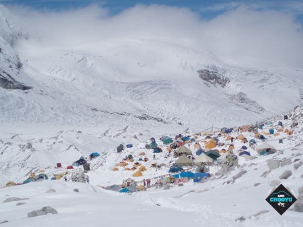 Cho Oyu, Campo Base. Fonte: pagina facebook della spedizione