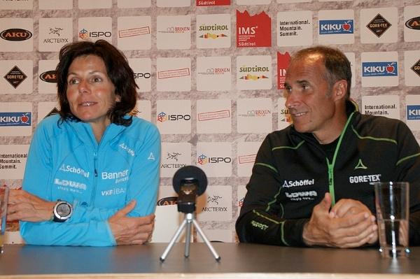Gerlinde Kaltenbrunner e Ralf Dujmovits a IMS nel 2012. Foto: Manuel Ferrigato/IMS
