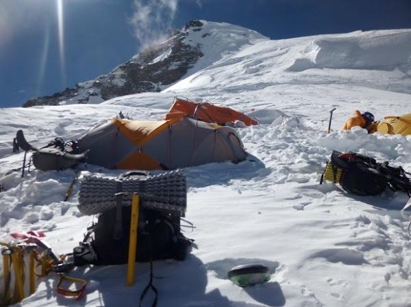 K2, Campo 3 - Fonte: EvK2Cnr