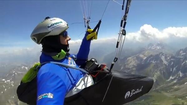 Chrigel Maurer, X-Alps 2013, fonte: www.youtube.com