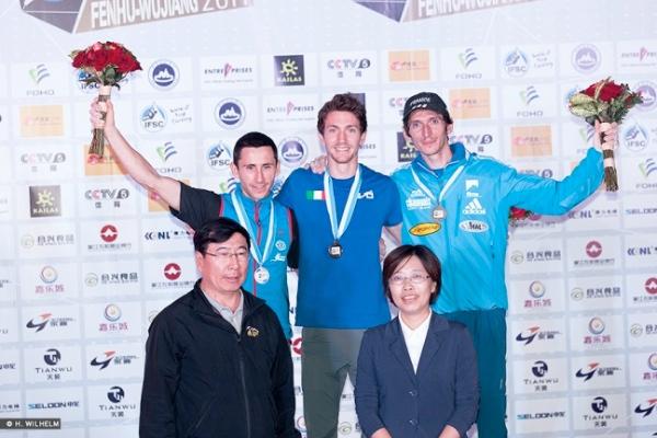 Podio maschile Lead, IFSC World Cup Wujiang 2014