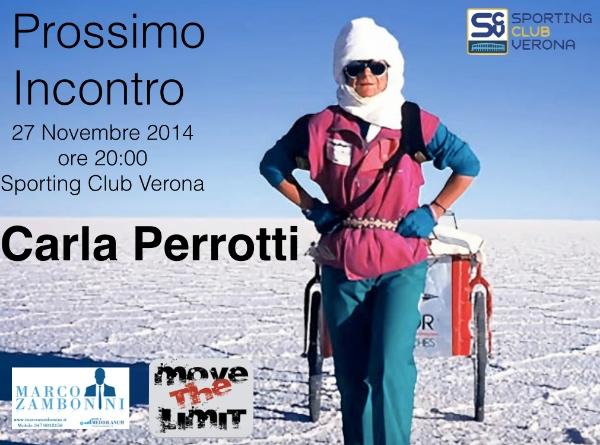 """Carla Perrotti, locandina """"Serate allo Sporting 2014"""""""