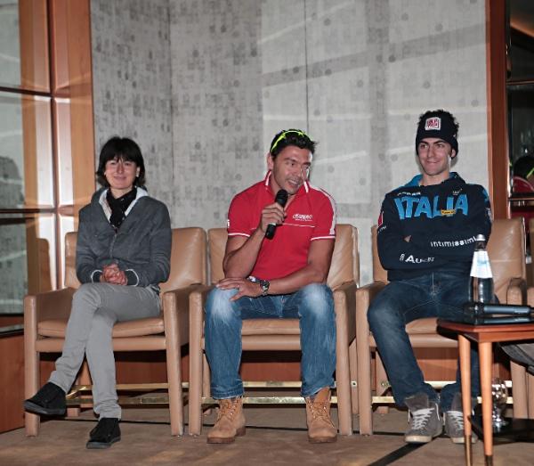 Confortola e Zorzi in conferenza stampa a Milano