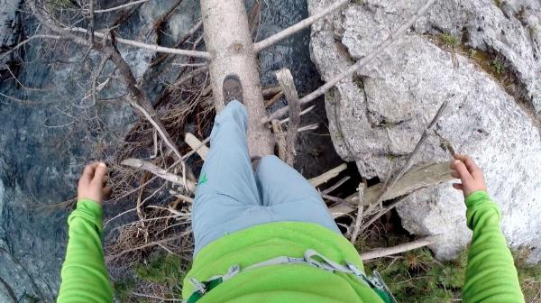 La scalata. Livello 1. In equilibrio su un tronco