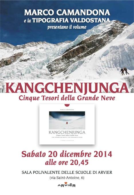 "locandina presentazione libro ""Kangchenjunga"""