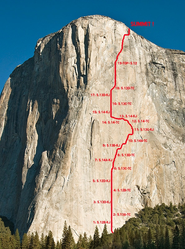 The Dawn Wall Project. Foto: Bjorn Pohl