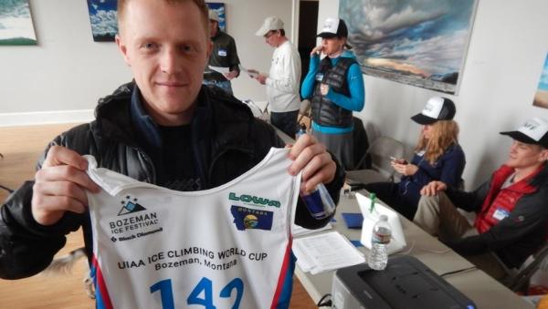 Egor Trapeznikov a Bozeman, il più veloce ice climber al mondo. Foto: UIAA