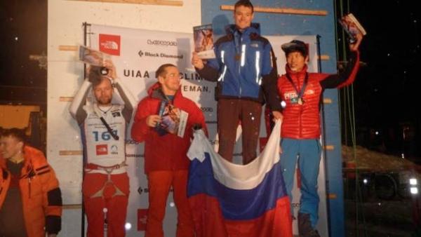 Maxim Tomilov, vincitore della Lead a Bozeman. Foto: UIAA