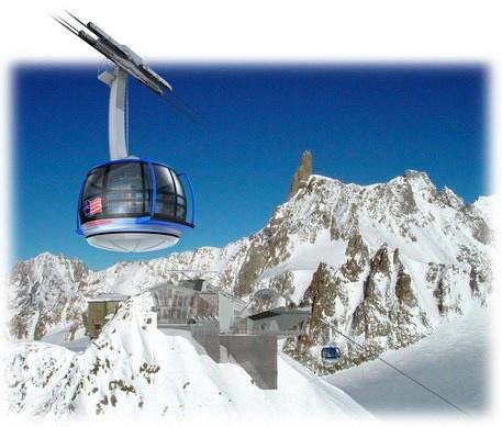 Nuova funivia del Monte Bianco. Fonte: www.ansa.it