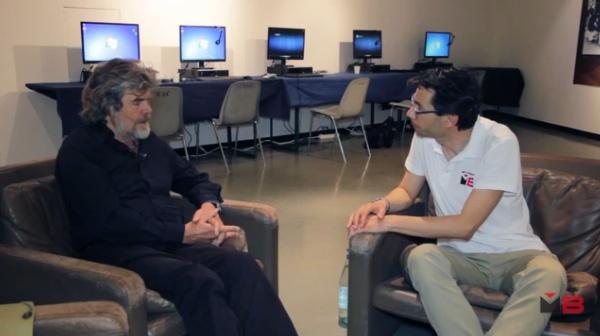 Reinhold Messner durante l'intervista rilasciata ad Andrea Bianchi al 63° TFF