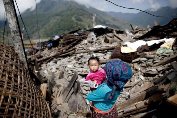 Terremoto in Nepal. Fonte immagine:  ANSA/EPA, www.ansa.it