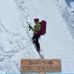 Annalisa Fioretti, Kangchenjunga. Immagine da locandina