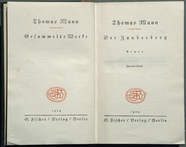 """""""La montagna incantata"""" di Thomas Mann, testo originale. Fonte: it.wikipedia.org"""