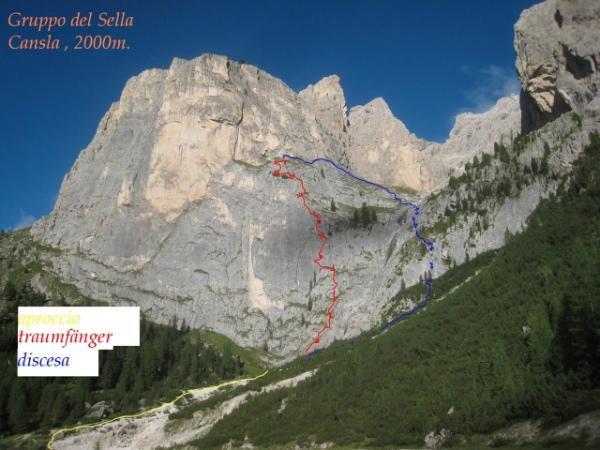Gruppo del Sella. Traumfaenger. Fonte: Val Gardena