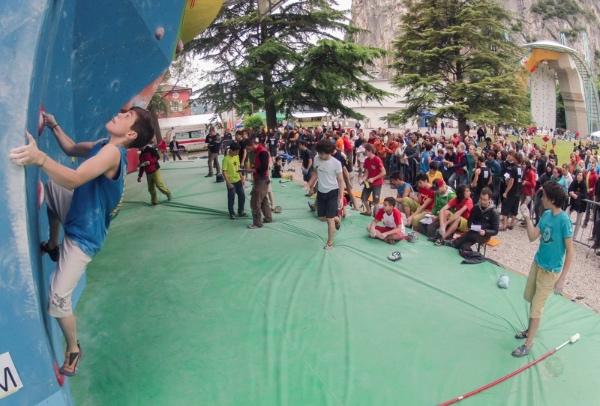 Campionato Italiano Giovanile di Arrampicata. Immagine da Rock Master Festival. Fonte: www.rockmasterfestival.com