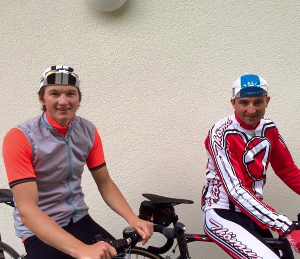 Wohllebem e Steck alla partenza da Grindelwald. Fonte: pagina facebook progetto