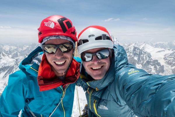 Andy e Jon vicini alla vetta occidentale di Link Sar. Foto: Jon Griffith/The North Face