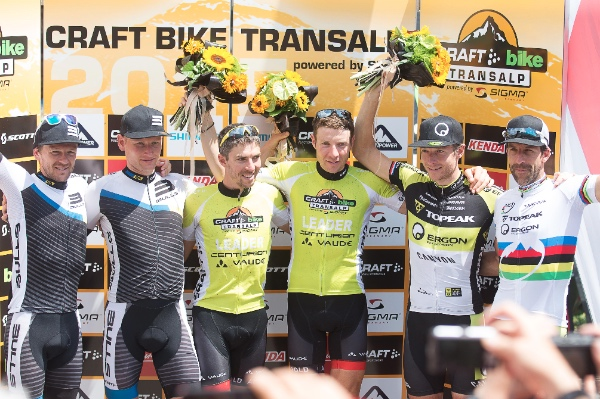 Craft Bike Transalp 2015. Podio uomini. Fonte: press gara