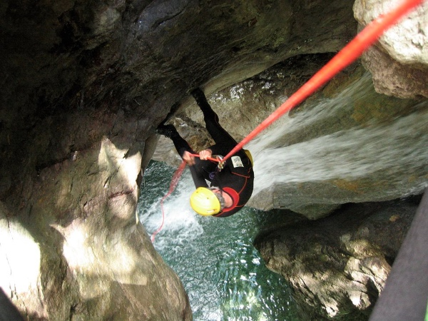 Canyoning. Foto: Marco Heltai