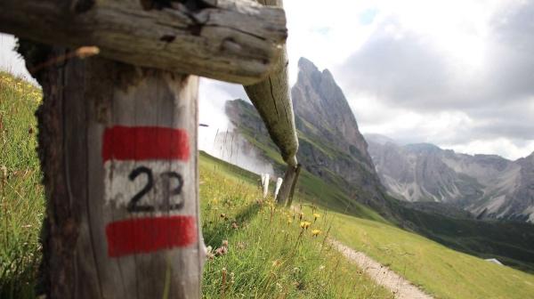 Wanderwege Groeden. Fonte: Val Gardena
