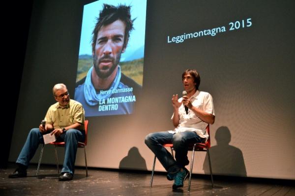 Leggimontagna 2015. Hervé Barmasse. Foto: Alberto Cella