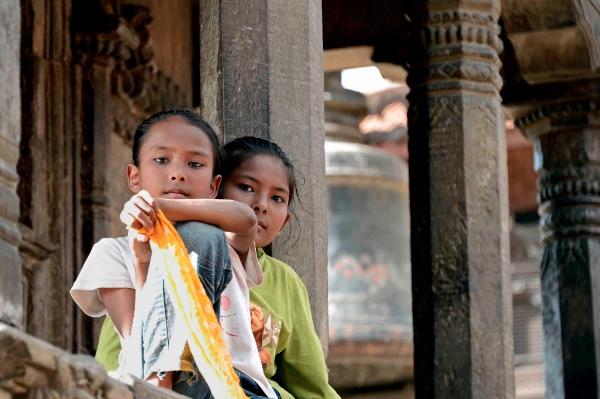 Lo sguardo delle Dee, Patan - Nepal. Foto: Enrico De Santis