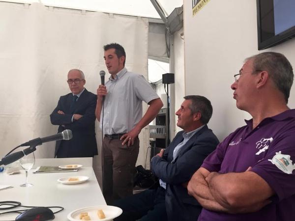 Da destra, Tallone, Abrate, Ferrato, Vullo. Presentazione formaggio Pasturo, Ostana