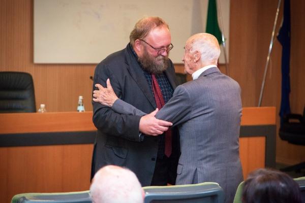Leggimontagna 2015. da sinistra: Giovanni Kezich, Spiro Dalla Porta Xydias