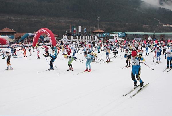 Trofeo Topolino Sci di Fondo, partenza Cuccioli - Men. Fonte: press gara