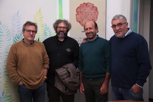 Da sinistra: Leonardo Bizzaro, Tiziano Fratus, Enrico Camanni, Gaetano Capizzi