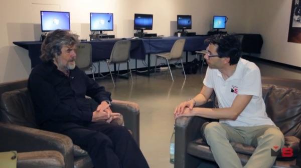 Andrea Bianchi intervista Reinhold Messner al 63° Trento Film Festival (2015).