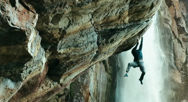 immagine da Point Break: climbing Angel Falls. Teaser. Fonte: vimeo.com