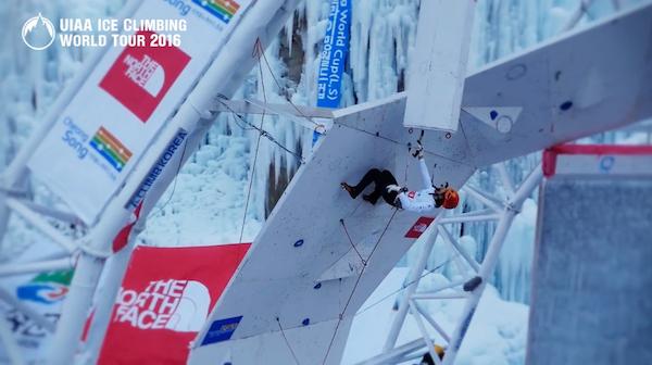 UIAA Ice Climbing World Tour 2016, teaser. Fonte: vimeo.com