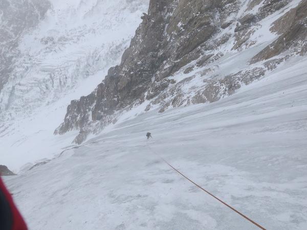 Nanga Parbat. Adam Bielecki subito dopo la caduta. Fonte: press D. Nardi