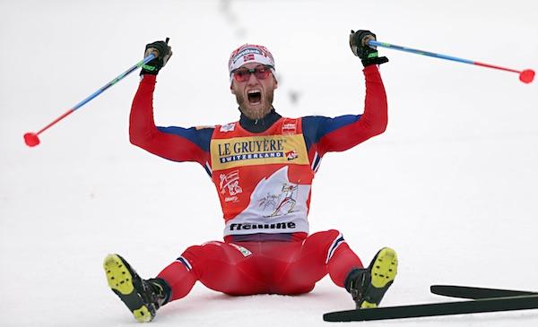 Martin Sundby al traguardo della Final Climb, del Tour de Ski 2016. Fonte: fiemmeworldcup.com