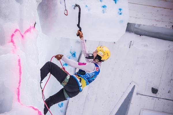 Angelika Rainer, Coppa del Mondo di Arrampicata su ghiaccio. Fonte: eisklettern.it