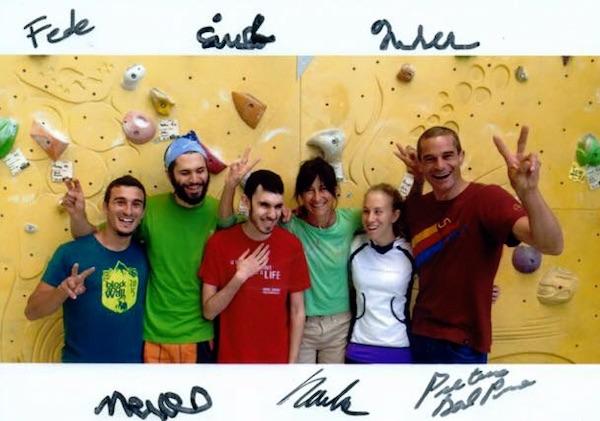 La squadra di Contatto Verticale. Fonte: pagina facebook Vincersi