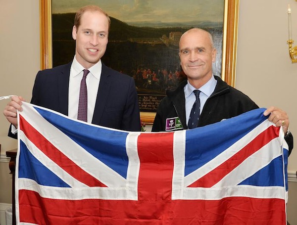 Henry Worsley con il Principe William. Foto: ANSA/AP
