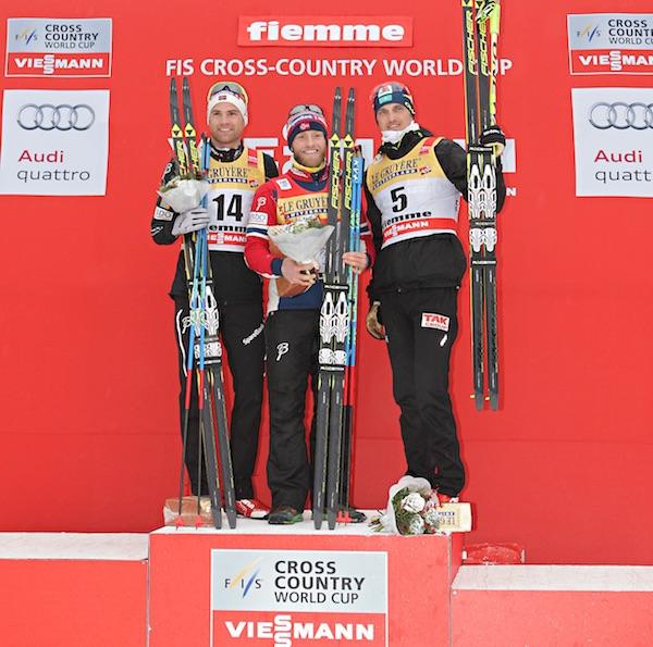 FIS Tour de Ski 2016: podio maschile Mass Start. Fonte: fiemmeworldcup.com
