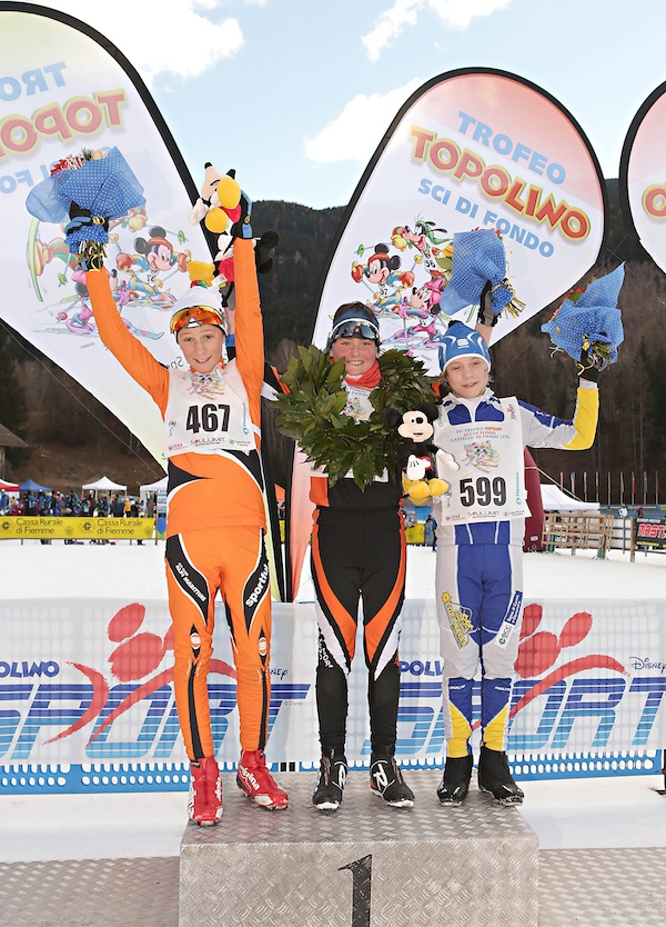 Trofeo Topolino Sci di Fondo 2016. Podio Cuccioli. Fonte: press evento